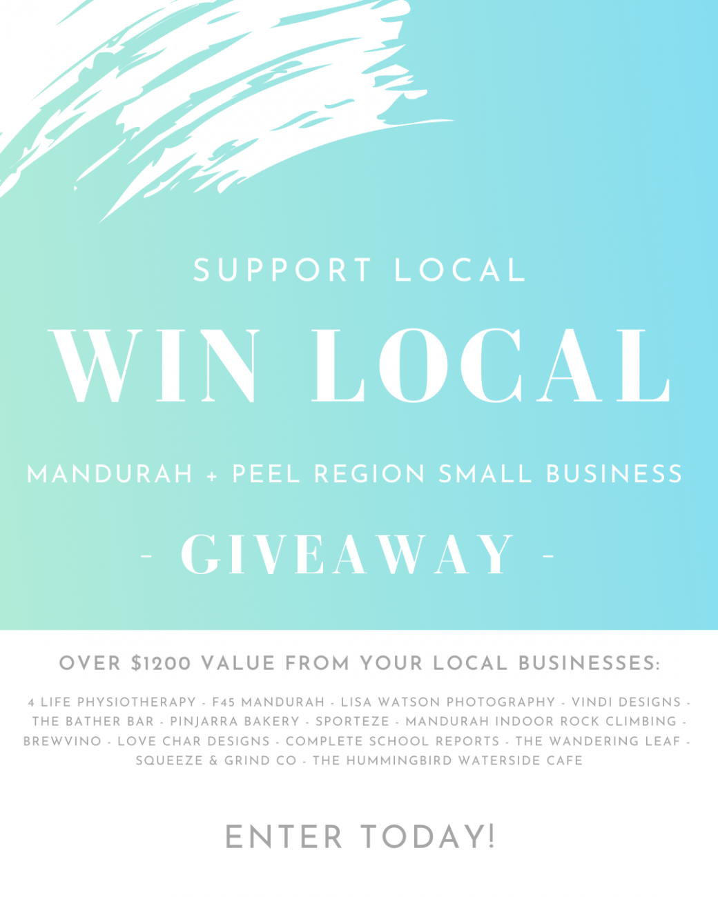 Lisa Watson Photography Mandurah Photographer - Support Local Win Local giveaway competition small business